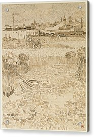 Arles  View From The Wheatfields Vincent Van Gogh Acrylic Print