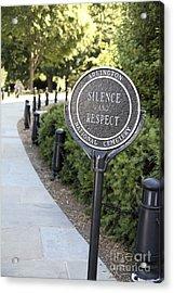 Arlington National Cemetery Rule Acrylic Print