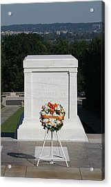 Arlington National Cemetery - Tomb Of The Unknown Soldier - 12121 Acrylic Print by DC Photographer