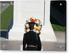 Arlington National Cemetery - Tomb Of The Unknown Soldier - 12128 Acrylic Print by DC Photographer