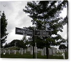 Acrylic Print featuring the digital art Arlington's Unknown Soldier Guide by Angelia Hodges Clay