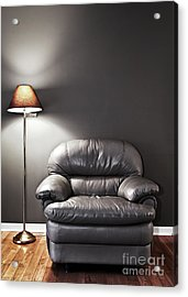 Armchair And Floor Lamp Acrylic Print by Elena Elisseeva