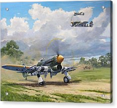 'armed And Dangerous - Typhoon' Acrylic Print by Colin Parker