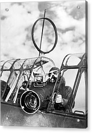 Army Air Force Camera Man Acrylic Print by Underwood Archives