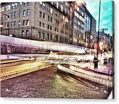 Army And Navy Rush Hour Acrylic Print by Jim Moore