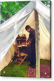 Army - Civil War Officer's Tent Acrylic Print by Susan Savad