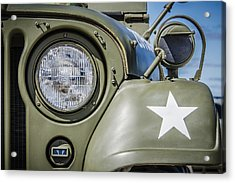 Army Jeep Acrylic Print by Bradley Clay