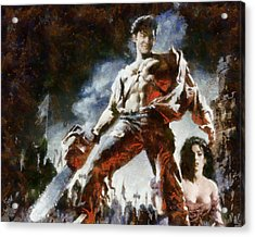 Acrylic Print featuring the painting Army Of Darkness by Joe Misrasi