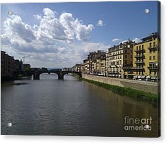 Arno River Acrylic Print by Ted Williams