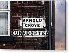 Arnold Grove Unadopted In Liverpool Acrylic Print by Semmick Photo