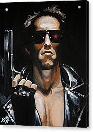 Arnold Schwarzenegger - Terminator Acrylic Print