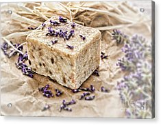 Aromatherapy Natural Scented Soap And Lavender Acrylic Print