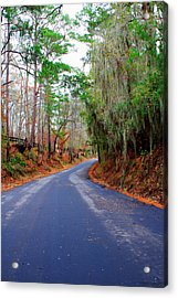 Around The Bend Acrylic Print by Rusty Voss