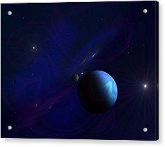 Around The Cosmos Acrylic Print by Ricky Haug