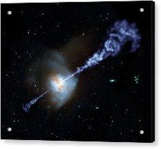Arp 220 Galaxy Acrylic Print by Nasa/jpl-caltech