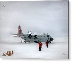 Arrival At South Pole Research Station Acrylic Print
