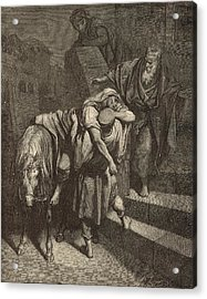 Arrival Of The Samaritan At The Inn Acrylic Print by Antique Engravings