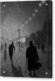 Arrivals Acrylic Print by H James Hoff