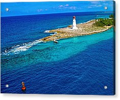 Acrylic Print featuring the photograph Arriving In The Bahamas by Pamela Blizzard