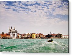 Arriving In Venice By Boat Acrylic Print by Susan Schmitz