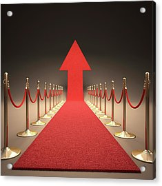 Arrow And Red Carpet Acrylic Print by Ktsdesign