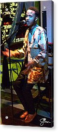 Arrow The Poet At Gigi's Music Cafee Acrylic Print by Shawn Lyte
