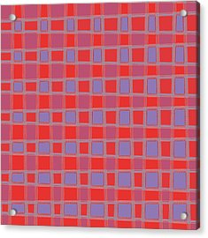 Art 1906 Elegant Graphic Pattern Squares Colorful Digitalart Graphicart Surface Texture Design Multi Acrylic Print