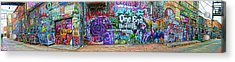 Art Alley Panorama Acrylic Print