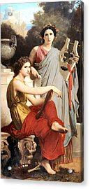 Art And Literature Acrylic Print by William Bouguereau