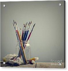 Art Brushes Acrylic Print