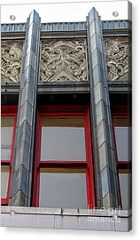 Art Deco Architectural Detail Acrylic Print by Gregory Dyer