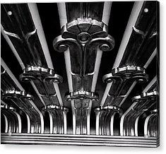Art Deco At The Henry Fonda Bw Acrylic Print
