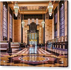 Art Deco Great Hall #1 Acrylic Print by Nikolyn McDonald