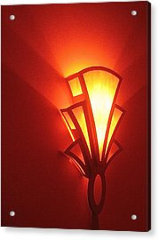 Acrylic Print featuring the photograph Art Deco Light Fox Tucson Arizona  Theater  2006 by David Lee Guss