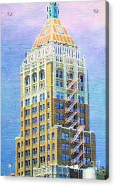 Art Deco Lives At Philtower Acrylic Print by Janette Boyd