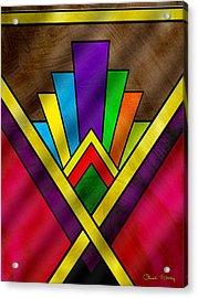 Art Deco Pattern 7v Acrylic Print