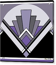 Art Deco Pattern Two - Purple Acrylic Print