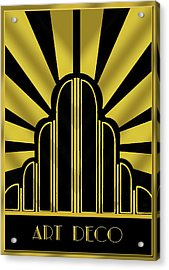 Art Deco Poster - Title Acrylic Print