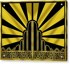 Art Deco Poster - Two Acrylic Print
