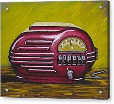Art Deco Radio Acrylic Print