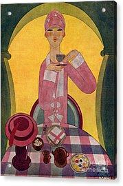 Art Deco Tea Drinking 1926 1920s Spain Acrylic Print