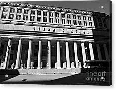 Art Deco Union Station Chicago Illinois Film Noir Style Photo Acrylic Print