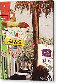 Art Ellis In Midtown Acrylic Print by Paul Guyer