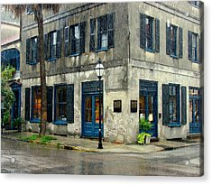 Acrylic Print featuring the photograph Art Gallery In The Rain by Rodney Lee Williams