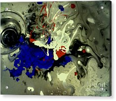 Art In A Sink Acrylic Print by Kelly Awad