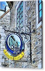 Art In Old Quebec Acrylic Print by Mel Steinhauer