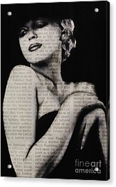 Art In The News 13-marilyn Acrylic Print