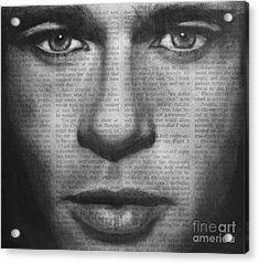 Art In The News 32- Brad Pitt Acrylic Print