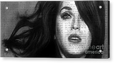 Art In The News 37- Katy Perry Acrylic Print