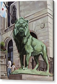 Art Institute Of Chicago An Act Of Defiance Acrylic Print